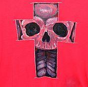 Одежда ручной работы. Ярмарка Мастеров - ручная работа Рисунок на ткани(футболке,кепке,шортах). Handmade.