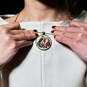 Украшения handmade. Livemaster - original item Pendant with embroidery