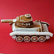 Пряники ручной работы. Ярмарка Мастеров - ручная работа Пряничный танк Т-34. Handmade.