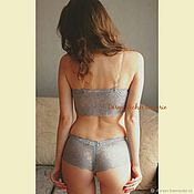 Одежда handmade. Livemaster - original item Lace lingerie Set with bra cups push up. Handmade.