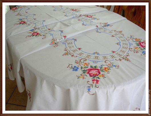 Текстиль, ковры ручной работы. Ярмарка Мастеров - ручная работа. Купить Скатерть  из роз, Свадьба бохо , Ностальгический образ. Handmade.