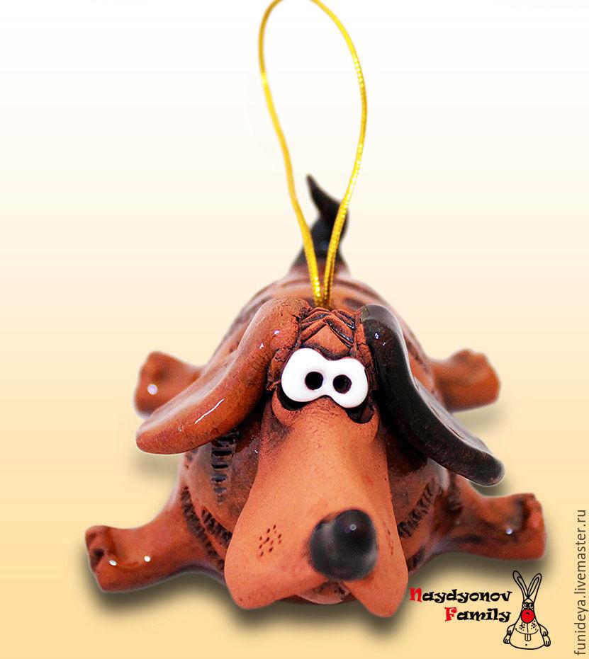 Новогодняя игрушка символ собаки