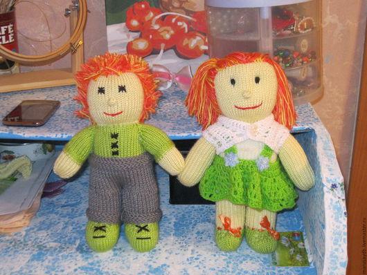 Человечки ручной работы. Ярмарка Мастеров - ручная работа. Купить Вязанные малыши. Handmade. Куклы, пряжа, шерсть, наполнитель для игрушек