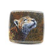 Сувениры и подарки ручной работы. Ярмарка Мастеров - ручная работа Леопард на моховом агате. Handmade.