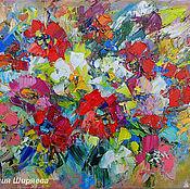"""Картины и панно ручной работы. Ярмарка Мастеров - ручная работа """"Многоцветное Видение"""" - картина маслом цветы. Handmade."""