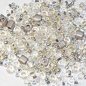 Материалы для творчества handmade. Livemaster - original item 10g Toho MIX 3201 Silver Japanese Beads TOHO Junpaku Crystal/Silver. Handmade.