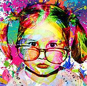 Дизайн и реклама ручной работы. Ярмарка Мастеров - ручная работа Детский портрет. Handmade.