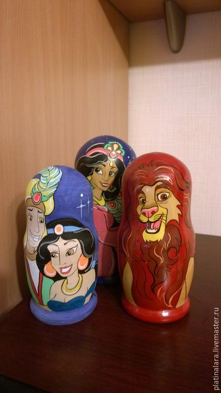 Сказочные персонажи ручной работы. Ярмарка Мастеров - ручная работа. Купить Матрешки.. Handmade. Разноцветный, веселые, игрушки ручной работы