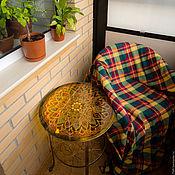Для дома и интерьера ручной работы. Ярмарка Мастеров - ручная работа Кофейный столик с витражной росписью в теплых тонах. Handmade.