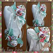 Куклы и игрушки ручной работы. Ярмарка Мастеров - ручная работа Тильда сердце валентинка текстильное.Подвеска. Handmade.