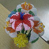 """Подарки к праздникам ручной работы. Ярмарка Мастеров - ручная работа Букет """"Весение цветы"""". Handmade."""