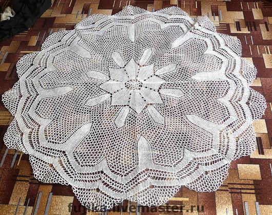 Текстиль, ковры ручной работы. Ярмарка Мастеров - ручная работа. Купить Скатерть круглая 220 см. Handmade. Скатерть