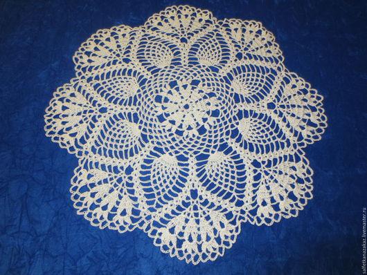 Текстиль, ковры ручной работы. Ярмарка Мастеров - ручная работа. Купить Салфетка Цветы. Handmade. Салфетка, салфетки кружевные