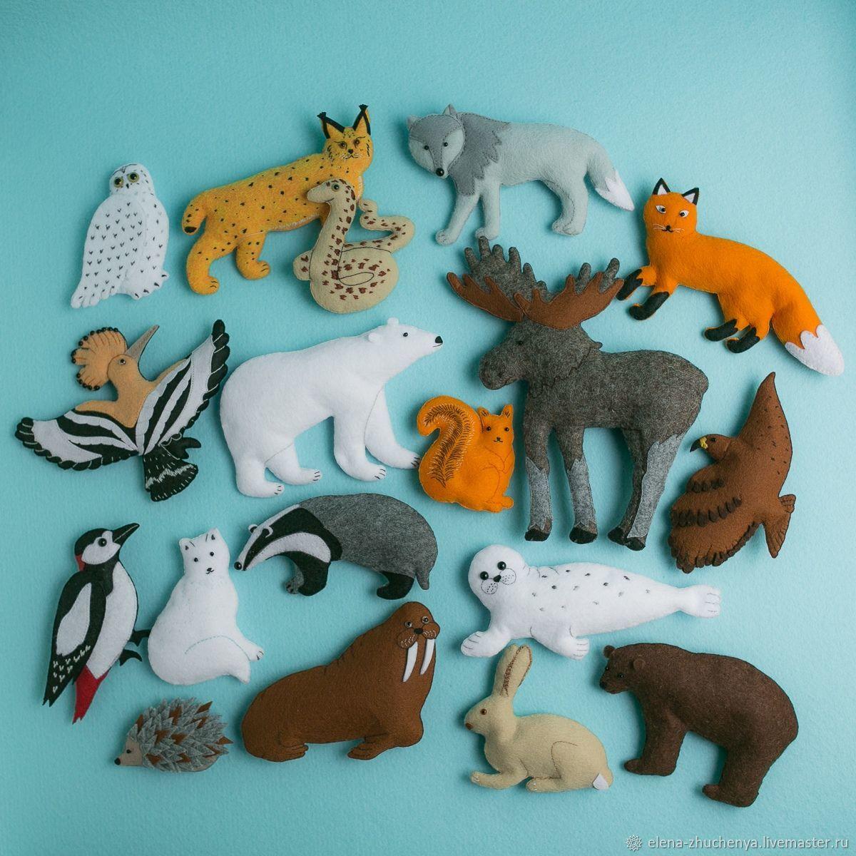 Игрушки: Животные России из фетра, Мягкие игрушки, Санкт-Петербург,  Фото №1
