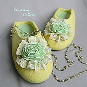 """Обувь ручной работы. Ярмарка Мастеров - ручная работа женские валяные тапочки """"Тайна"""". Handmade."""
