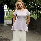 Одежда handmade. Livemaster - original item Summer knit tunic with peplum. Handmade.