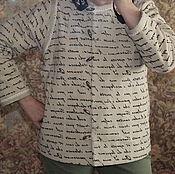 Одежда ручной работы. Ярмарка Мастеров - ручная работа Фуфайка изо льна.. Handmade.