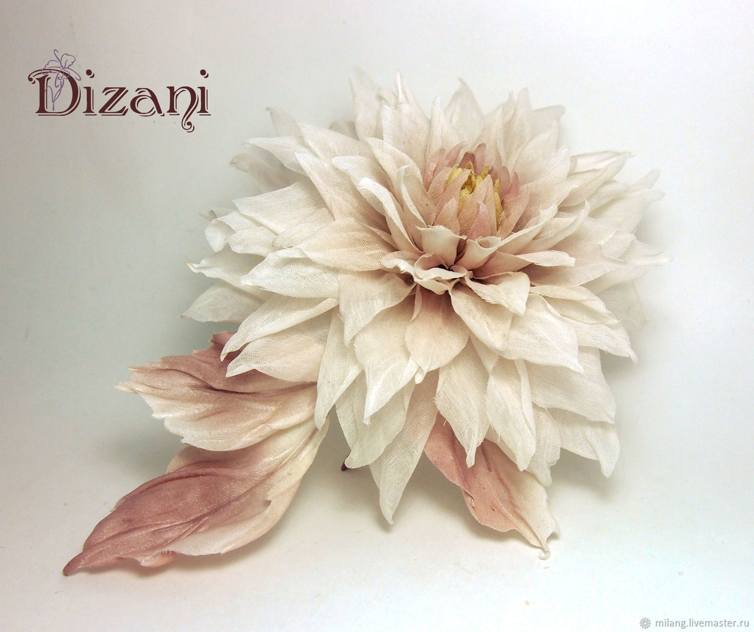 Dahlia Decoration Silk Flowers Shop Online On Livemaster With