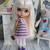 Куклы и игрушки ручной работы. Ярмарка Мастеров - ручная работа Платье+чулочки для куколки Блайз. Handmade.