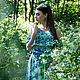 """Платья ручной работы. Заказать Платье """"Legend. Wildflowers"""". Anna Paromskaya. Ярмарка Мастеров. Летнее платье, трикотажное платье"""
