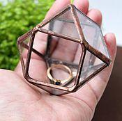 Свадебный салон handmade. Livemaster - original item Glass jewelry box, small vase, jewelry box for rings. Handmade.