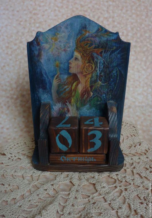 Календари ручной работы. Ярмарка Мастеров - ручная работа. Купить Вечный календарь. Handmade. Вечный календарь, тёмно-синий, подарок