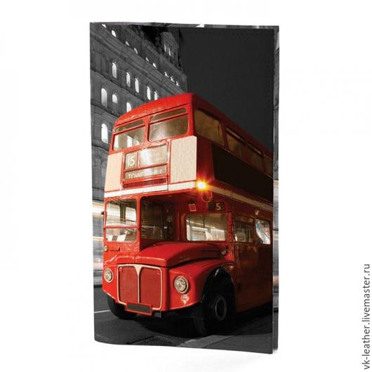 Кошельки и визитницы ручной работы. Ярмарка Мастеров - ручная работа. Купить Портмоне Лондонский автобус, Тревел, Travel. Handmade. Портмоне