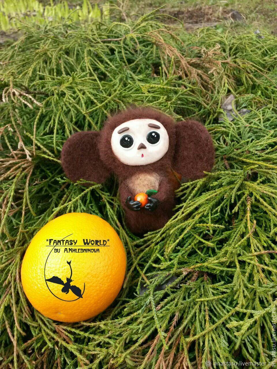 Cheburashka (dry felting), Felted Toy, Moscow,  Фото №1