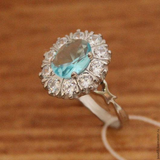 Кольца ручной работы. Ярмарка Мастеров - ручная работа. Купить Серебряное кольцо Блюз, серебро 925. Handmade. Голубой
