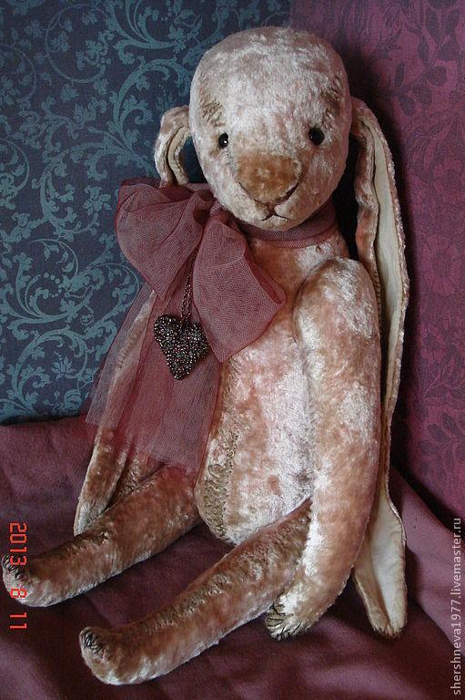 """Мишки Тедди ручной работы. Ярмарка Мастеров - ручная работа. Купить Заяц """"Любимый"""". Handmade. Кремовый, друзья мишек тедди"""