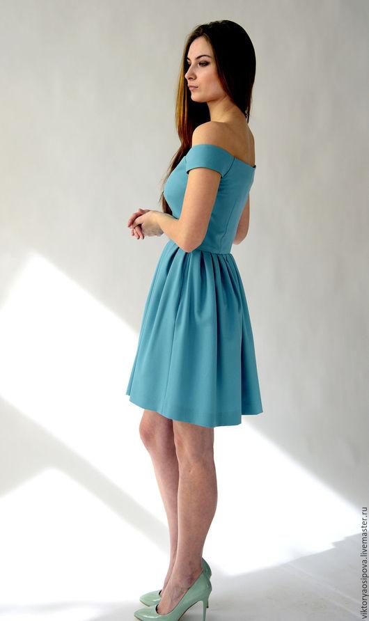 Платья ручной работы. Ярмарка Мастеров - ручная работа. Купить Мятное платье. Handmade. Мятный, Платье нарядное, платье на свадьбу