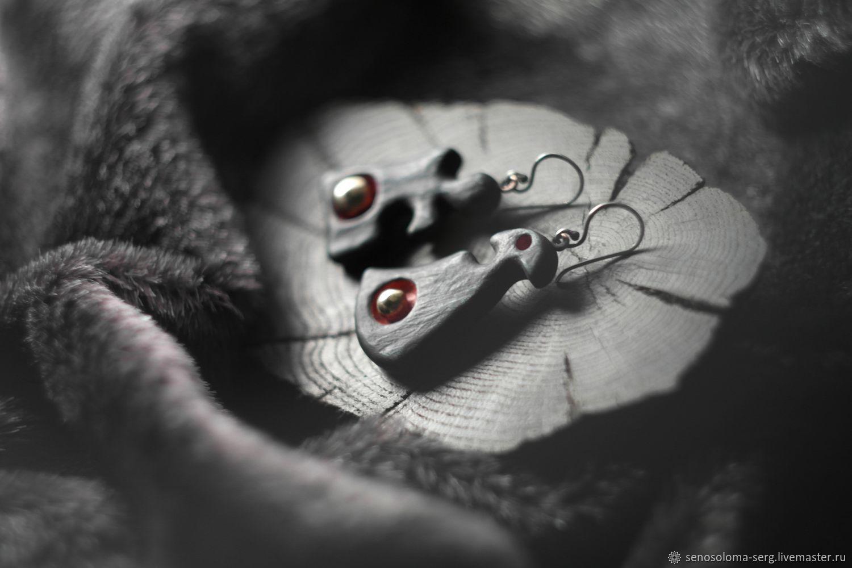 """Серьги ручной работы. Ярмарка Мастеров - ручная работа. Купить """" фрагмент поэзии """". Handmade. Серый, серебрянные швензы"""
