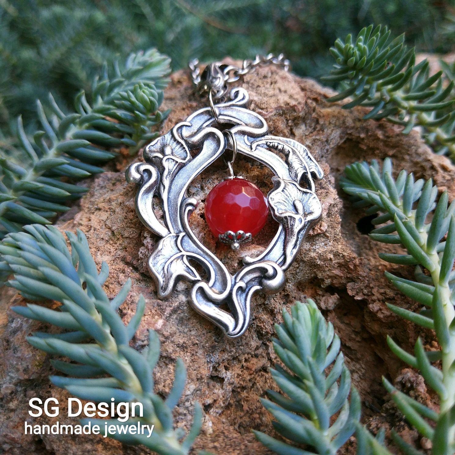 Silver Nemesis pendant natural red ruby, Pendants, Yalta,  Фото №1