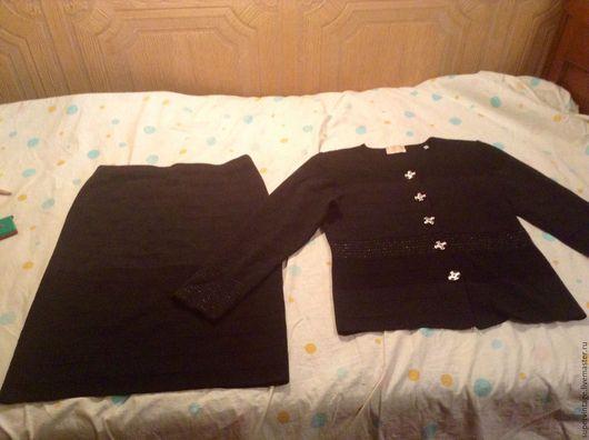 Одежда. Ярмарка Мастеров - ручная работа. Купить ANTONELLA Трикотажный костюм, оригинал. Handmade. Черный, деловой стиль