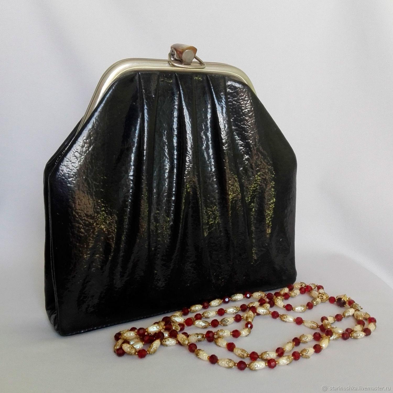 Винтаж: Винтажная лакированная сумка. Роскошная. Винтаж, Сумки винтажные, Щелково,  Фото №1