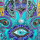 Decorative plate 'Hamsa' hand painted. Plates. Art by Tanya Shest. My Livemaster. Фото №5