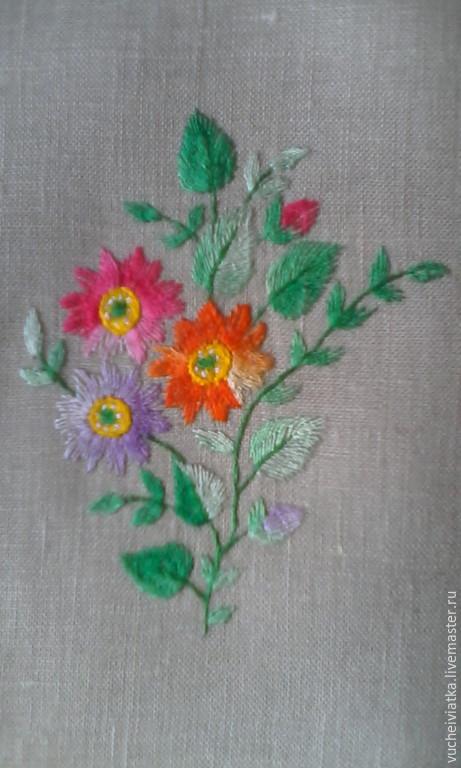 Одежда ручной работы. Ярмарка Мастеров - ручная работа. Купить цветочные мотивы. Handmade. Разноцветный, 100% лён