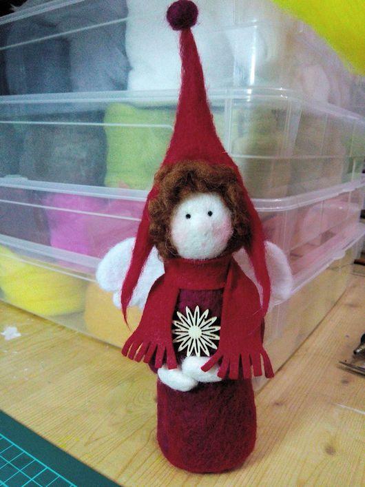 Коллекционные куклы ручной работы. Ярмарка Мастеров - ручная работа. Купить Скандинавский ангел. Handmade. Ангел, шерсть для валяния