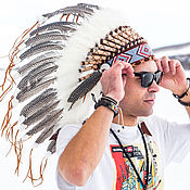 Фен-шуй и эзотерика handmade. Livemaster - original item Indian headdress Soaring eagle. Indian roach. Handmade.