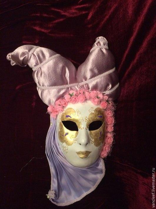 """Интерьерные  маски ручной работы. Ярмарка Мастеров - ручная работа. Купить Интерьерная венецианская маска """"Роза"""". Handmade. Фиолетовый"""