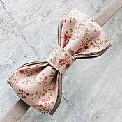 Аксессуары ручной работы. Ярмарка Мастеров - ручная работа Галстук- бабочка цветочная. Handmade.