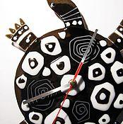 """Часы классические ручной работы. Ярмарка Мастеров - ручная работа Часы """"Черепашка""""( стекло). Handmade."""