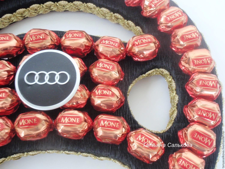Поздравление к рулю из конфет