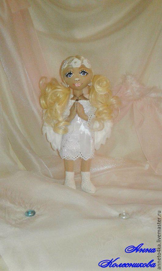 """Коллекционные куклы ручной работы. Ярмарка Мастеров - ручная работа. Купить Кукла текстильная """"Ангел-Хранитель"""". Handmade. Белый, перья"""
