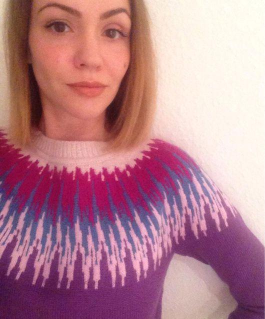 Кофты и свитера ручной работы. Ярмарка Мастеров - ручная работа. Купить Лопапейса - пуловер с круглой жаккардовой кокеткой. Handmade. лопапейса