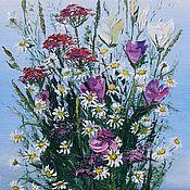 Картины и панно handmade. Livemaster - original item Painting with a Bouquet of wild flowers. Handmade.