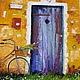 Пейзаж ручной работы. Ярмарка Мастеров - ручная работа. Купить Картина маслом. Дверь в лето рыжий, оранжевый, 30 на 40 см. Handmade.
