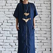 Одежда handmade. Livemaster - original item Long Denim Dress. Handmade.