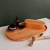 Хранение вещей ручной работы. Ярмарка Мастеров - ручная работа B a s i c _ Набор для хранения: поднос и овальная коробочка. Handmade.