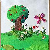 """Картины и панно ручной работы. Ярмарка Мастеров - ручная работа Пластилиновая картина """"У Лукоморья"""". Handmade."""